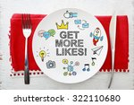 get more likes concept on white ... | Shutterstock . vector #322110680
