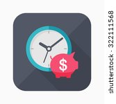 time is money icon  vector...