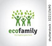 family logo vector logo template | Shutterstock .eps vector #322115690