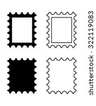 vector postage stamp icon set | Shutterstock .eps vector #322119083