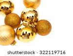 gold christmas balls | Shutterstock . vector #322119716