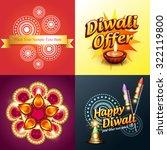 vector set of diwali background ... | Shutterstock .eps vector #322119800