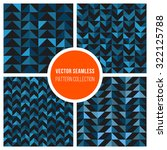 set of four vector seamless...   Shutterstock .eps vector #322125788