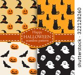 collection of happy halloween... | Shutterstock .eps vector #322128260
