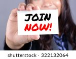 businesswoman holding card with ... | Shutterstock . vector #322132064