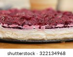 homemade rustic cheesecake with ... | Shutterstock . vector #322134968