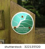 """""""woodland Welcome"""" Sign In The..."""