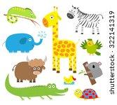 cute animal set. baby...   Shutterstock .eps vector #322141319