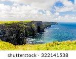 cliffs of moher  burren region  ... | Shutterstock . vector #322141538