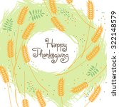 happy thanksgiving fall... | Shutterstock .eps vector #322148579