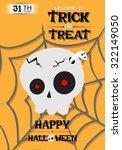 halloween party cranium poster... | Shutterstock .eps vector #322149050