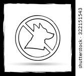 forbidden dogs icon. internet... | Shutterstock . vector #322151543