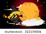 witch halloween girl. the... | Shutterstock .eps vector #322154006