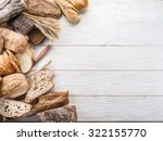 the bread and a wheat on the... | Shutterstock . vector #322155770
