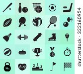 set of 25 sports minimal icons | Shutterstock .eps vector #322160954