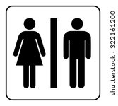 restroom sign. male and female... | Shutterstock .eps vector #322161200