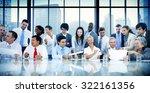 business people meeting... | Shutterstock . vector #322161356