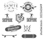 Set Of Skateboarding Labels ...