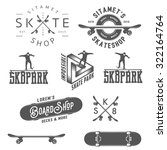 set of skateboarding labels ... | Shutterstock . vector #322164764