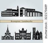 brampton landmarks and... | Shutterstock .eps vector #322170689