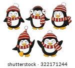 set of cute little penguins | Shutterstock .eps vector #322171244