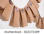 handmade tinkered advent...   Shutterstock . vector #322172189