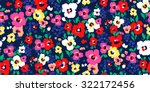 Painted Flowers   Seamless...