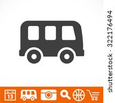 bus   vector icon | Shutterstock .eps vector #322176494