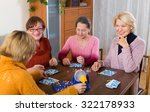 several happy female pensioners ... | Shutterstock . vector #322178933