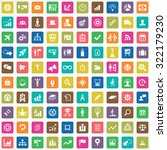 business strategy 100 icons... | Shutterstock .eps vector #322179230