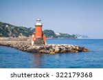 Red Lighthouse Tower On The...