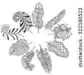 zentangle stylized various... | Shutterstock .eps vector #322180523