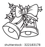 christmas bells vector... | Shutterstock .eps vector #322183178