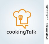 cooking talk food logo cooking... | Shutterstock .eps vector #322183688