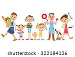 three generation family who... | Shutterstock .eps vector #322184126