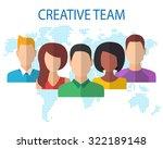 creative team concept. flat... | Shutterstock .eps vector #322189148