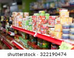 Small photo of BARCELONA, SPAIN - MARCH 22, 2015: Canned goods at groceries section of average Polish supermarket