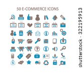 e commerce icons | Shutterstock .eps vector #322195913