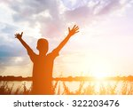 kid silhouette moments of the... | Shutterstock . vector #322203476