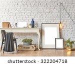 brick wall horizontal banner... | Shutterstock . vector #322204718