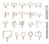 vector icons    signpost set | Shutterstock .eps vector #32220772