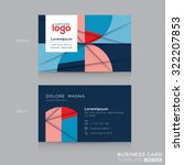 abstract business card design... | Shutterstock .eps vector #322207853