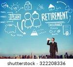 retirement insurance pension...   Shutterstock . vector #322208336