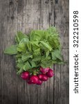 bunch of fresh radishes on... | Shutterstock . vector #322210598