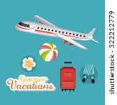 summer  vacations and travel... | Shutterstock .eps vector #322212779
