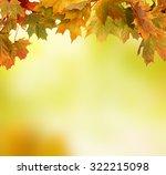 autumn background | Shutterstock . vector #322215098