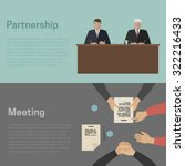 meeting and business... | Shutterstock .eps vector #322216433