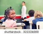 afro american schoolgirl... | Shutterstock . vector #322226000