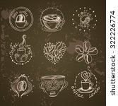 coffee shop related vintage set.... | Shutterstock .eps vector #322226774