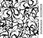 vector vintage seamless black... | Shutterstock .eps vector #322228028